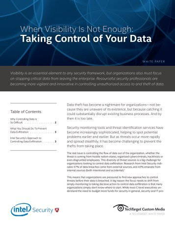 Taking Control of Your Data