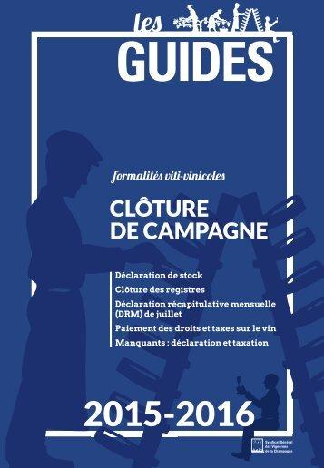 Les Guides du SGV - Clôture de campagne viti vini 2015-2016