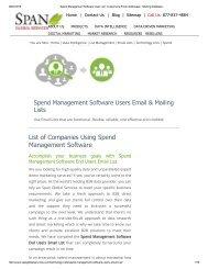 Spend Management Software User List _ Customers Email Addresses _ Mailing Database