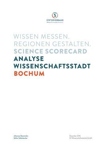 Science Scorecard - Abschlussbericht Bochum