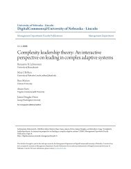 Complexity leadership theory: An interactive perspective on leading ...