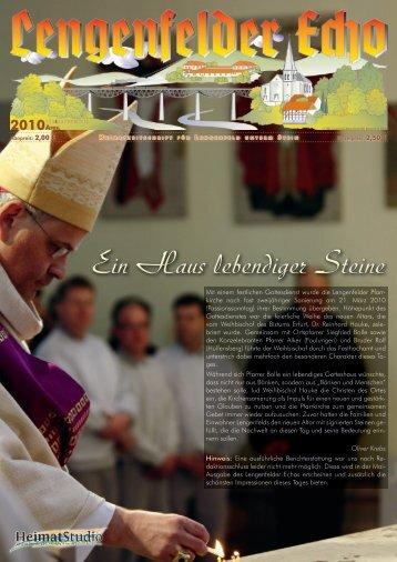 Lengenfelder Echo, Ausgabe April 2010 - Eichsfeld-Archiv des ...