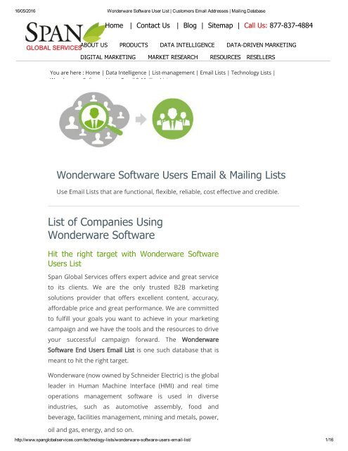 Get Accurate Wonderware Software using Companies from Span Global Services