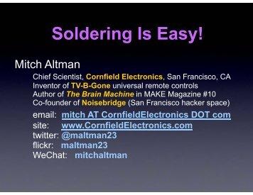 Soldering Is Easy!