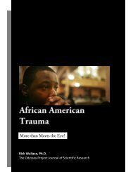 African American Trauma: More than Meets the Eye