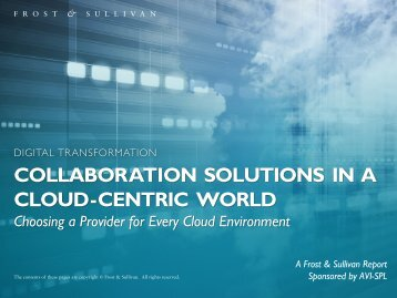 COLLABORATION SOLUTIONS IN A CLOUD-CENTRIC WORLD