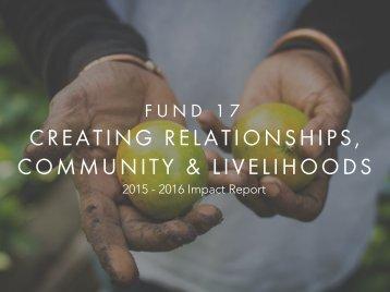 & LIVELIHOODS COMMUNITY