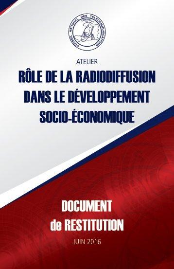 Rôle de la radiodiffusion dans le développement socio-économique