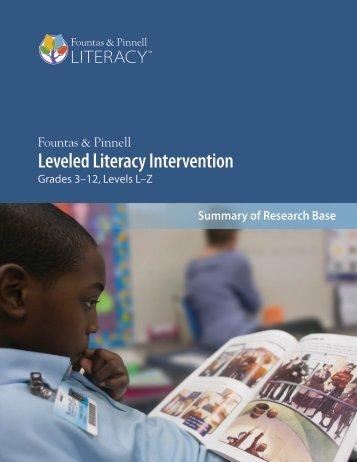 Leveled Literacy Intervention