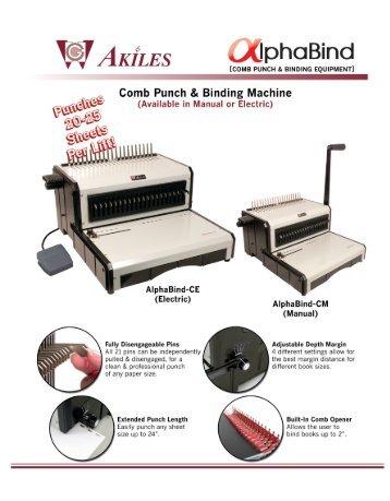 AlphaBind-CM Akiles Comb Binding Machine by Printfinish.com