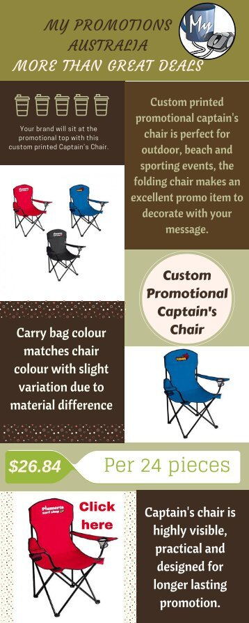 Promotional Folding Captain's Chair at My Promotions Australia