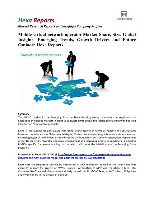 Mobile virtual network operator Market Share, Emerging Trends and