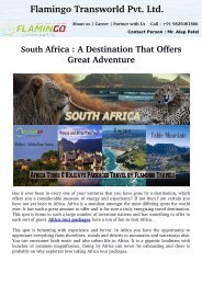 South  Africa : A Destination That Offers Great Adventure