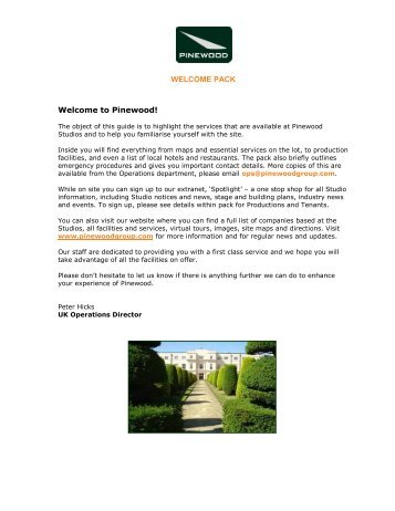 Pinewood Welcome Pack_2016