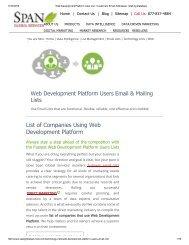 Buy Tele Verified Web Development Platform Customer Lists from Span Global Services