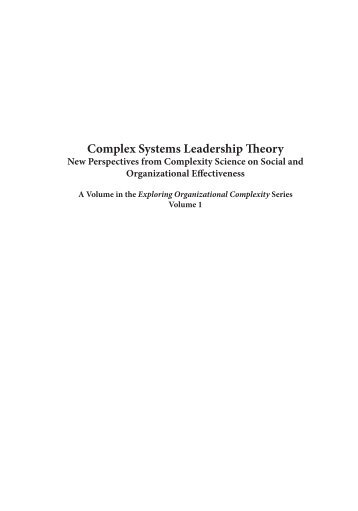 emerging leadership theories The problem and the solution this article reviews recent novel contributions to leadership development theory and practice it provides definitions and a brief overview of leadership and leadership development, and a summary of a number of seminal and contemporary leadership theories that serve as a foundation for leadership.