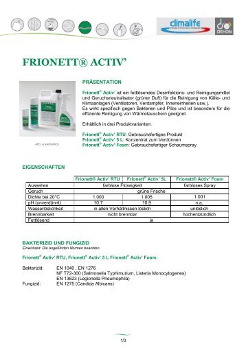 FRIONETT® ACTIV' - Nissel Kälte - Klima