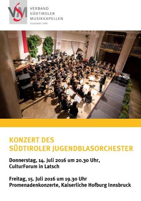 Flyer Konzerte SJBO 2016