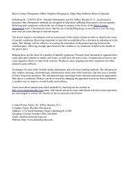 Knox County Chiropractic Office, Hayden Chiropractic, Helps Pain Sufferers Recover Quicker