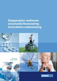 Stappenplan realiseren structurele financiering innovatieve ouderenzorg
