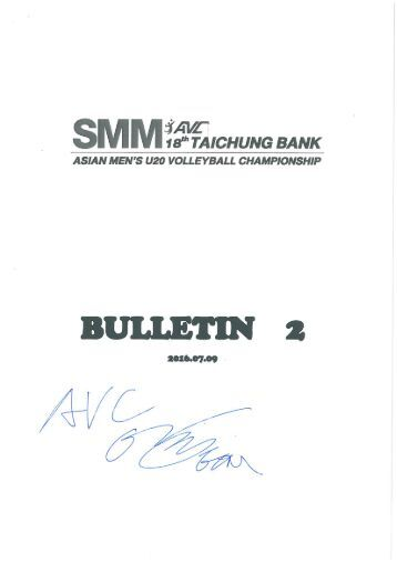 Bulletin-2-_-2016-SMM-The-18th-Aisan-Mens-U20-Volleyball-Championship