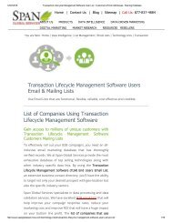 Buy Transaction Lifecycle Management Software using Companies from Span Global Services
