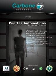 Catálogo Puertas Automáticas
