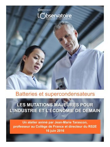 Batteries et supercondensateurs