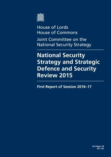 National Security Strategy and Strategic Defence and Security Review 2015
