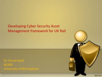 Developing Cyber Security Asset Management framework for UK Rail