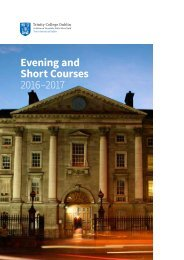 Evening and Short Courses 2016–2017