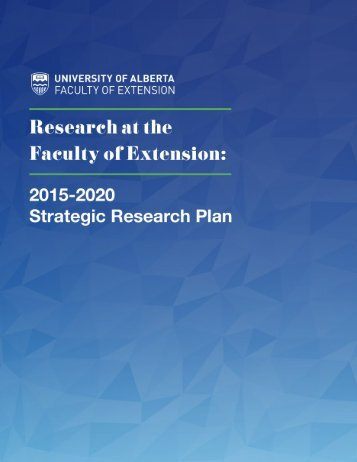 Strategic Research Plan 2015-2020