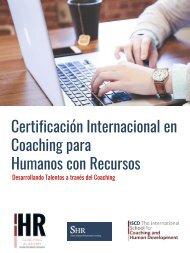 Certificación Internacional en Coaching para Humanos con Recursos
