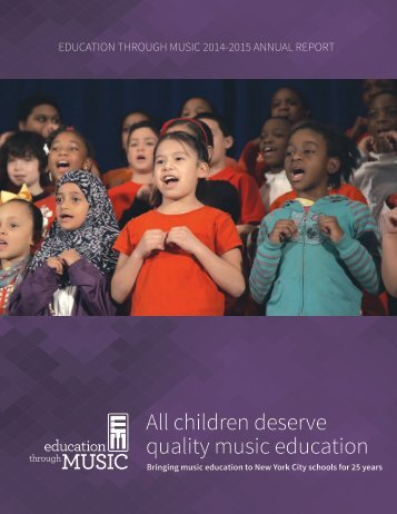 All children deserve quality music education