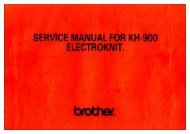 SERVICE MANUAL FOR KH-900 ELECTROKNIT. - Alaskan Maine ...
