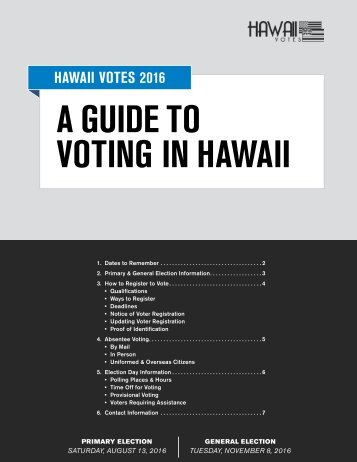 VOTING IN HAWAII