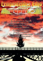 Lengenfelder Echo, Ausgabe Februar 2012 - Eichsfeld-Archiv des ...