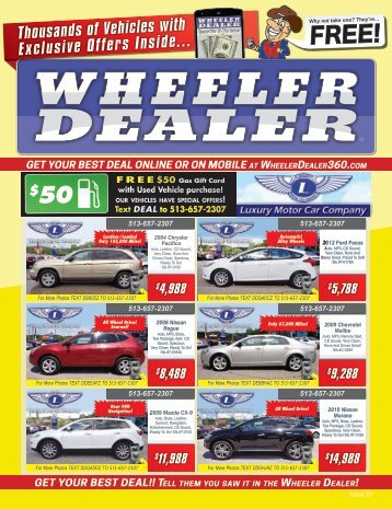 Wheeler Dealer Issue 29, 2016