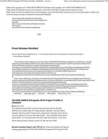 250-Infrapedia 2016 Project Profile _ InfraPedia - Access to Data at Ease