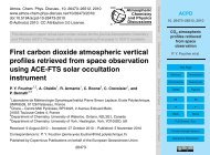 First carbon dioxide atmospheric vertical profiles retrieved ... - ACPD