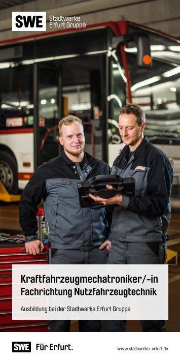 160707_SWE_Service_Ausbildungsflyer_Kraftfahrzeugmechatroniker_-in Fachrichtung Nutzfahrzeugtechnik_Web