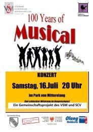 Musical Plakat Konzert
