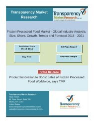 Product Innovation to Boost Sales of Frozen Processed Food Worldwide, says TMR