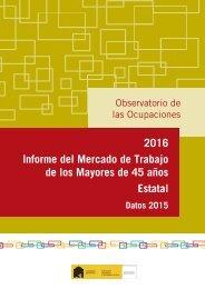 2016 Informe del Mercado de Trabajo de los Mayores de 45 años Estatal