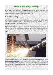 What Is It Laser Cutting?