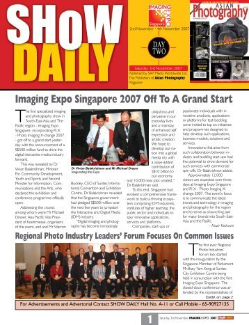 Imaging Expo Singapore 2007 Off To A Grand Start - Show Daily