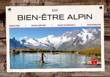 Prospectus de bien-être alpin