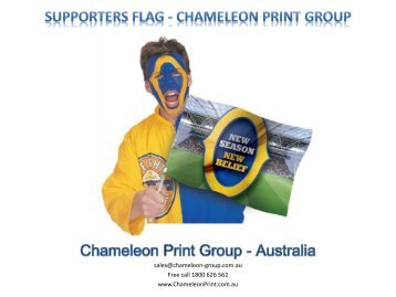 Supporters Flag - Chameleon Print Group
