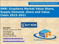 Graphene Market Segment Forecasts up to 2021, Research Reports- SyndicateMarketResearch