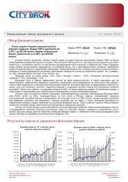 Обзор фондового рынка за 11 марта - FundMarket